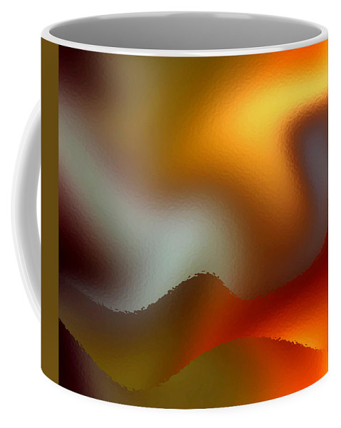 Abstract Coffee Mug featuring the digital art Luminous Waves by Ruth Palmer