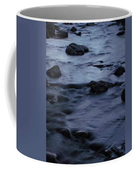 Moonlight Stream Photographs Moonlit Stream Canvas Prints Landscape Nature Brook Creek Coffee Mug featuring the photograph Lunar Flow by Joshua Bales