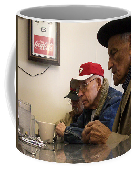 Diner Coffee Mug featuring the photograph Lunch Counter Boys by Tim Nyberg