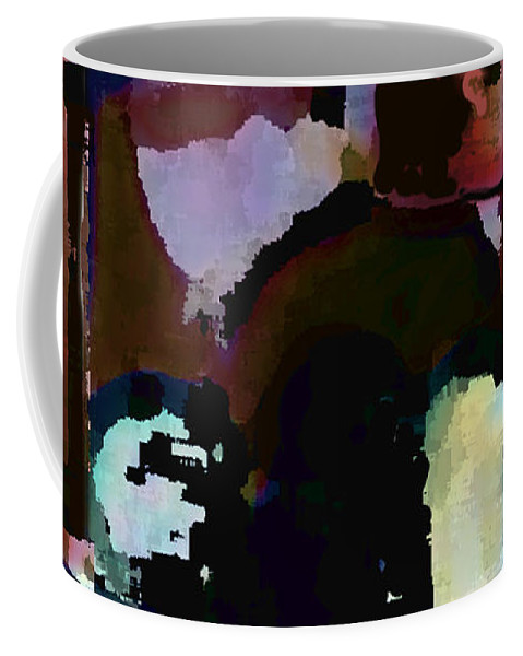 Abstract Expressionism Coffee Mug featuring the painting Lunch Counter by Steve Karol