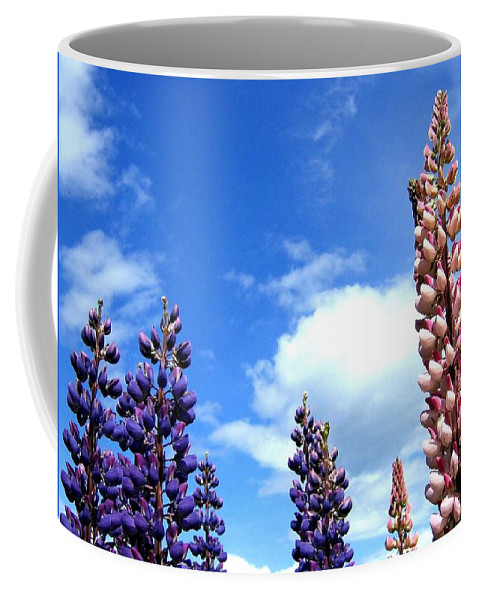 Lupins Coffee Mug featuring the photograph Lupins by Will Borden