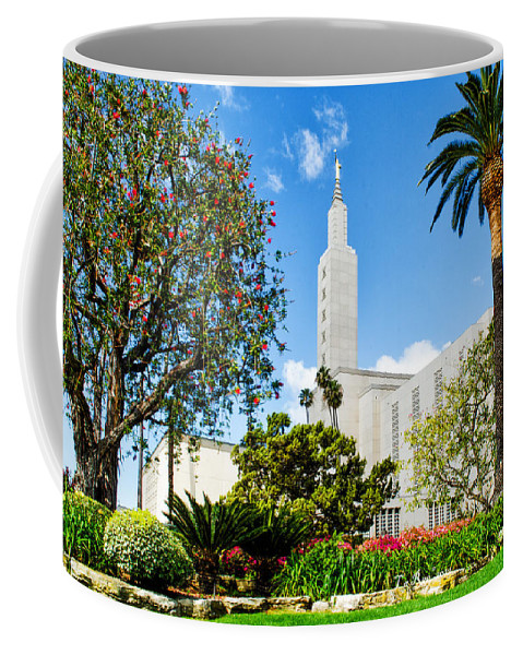 Lds Temple Photography Coffee Mug featuring the photograph Lush La Temple by La Rae Roberts