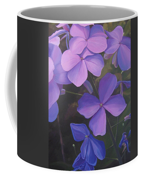 Closeup Of Colorado Wildflower Near Durango Coffee Mug featuring the painting Lush Life by Hunter Jay