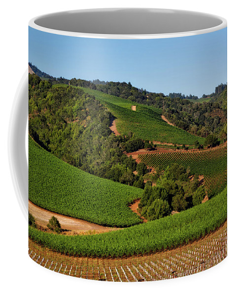 California Coffee Mug featuring the photograph Lush Napa Valley by Mountain Dreams