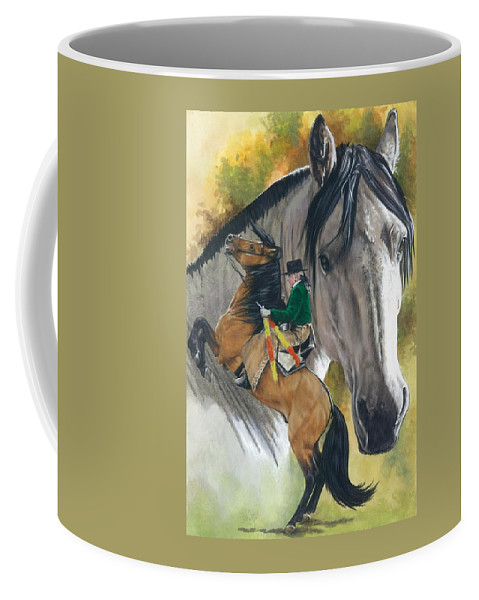 Hoof Stock Coffee Mug featuring the mixed media Lusitano by Barbara Keith