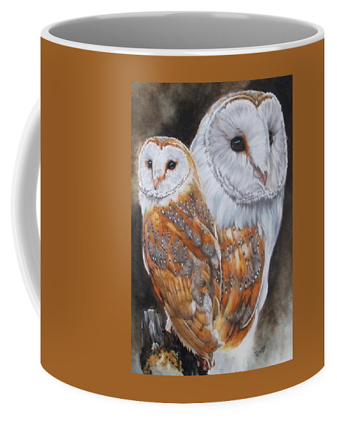 Bird Coffee Mug featuring the mixed media Luster by Barbara Keith
