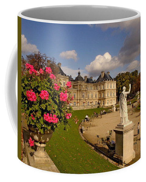 Luxembourg Palace Coffee Mug featuring the photograph Luxembourg Palace by Mick Burkey