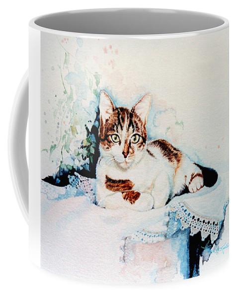 Painting Of Tyke Coffee Mug featuring the painting Luxury Lounge by Hanne Lore Koehler