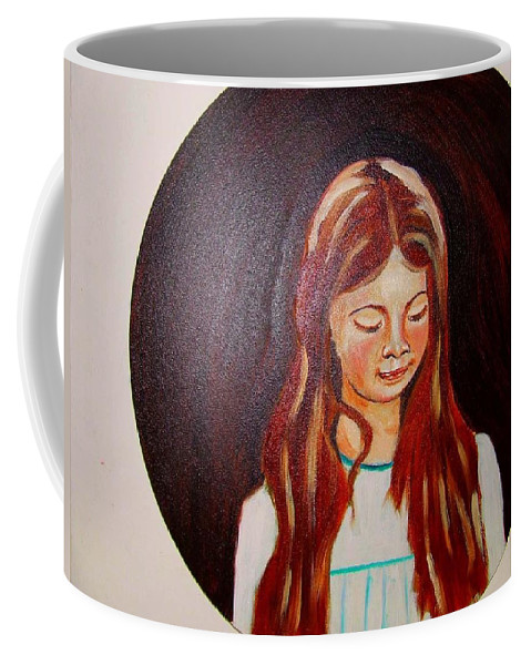 Portraits Coffee Mug featuring the painting Lydia by Rusty Gladdish