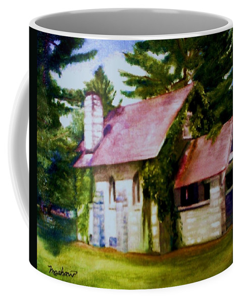 Church Coffee Mug featuring the painting Lyons Falls Church by Sheila Mashaw