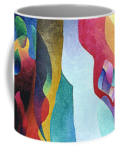 Abstract Coffee Mug featuring the painting Lyrical Grouping by Sally Trace