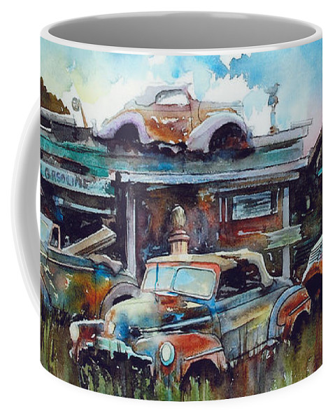 Fords Coffee Mug featuring the painting Lytton Station by Ron Morrison