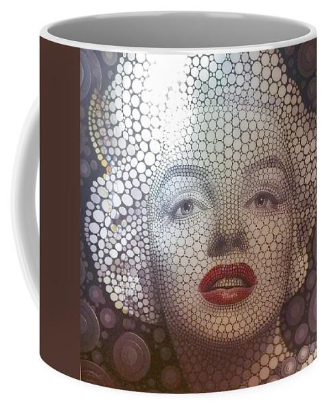 Marilyn Monroe Coffee Mug featuring the photograph M 1 by Rob Hans