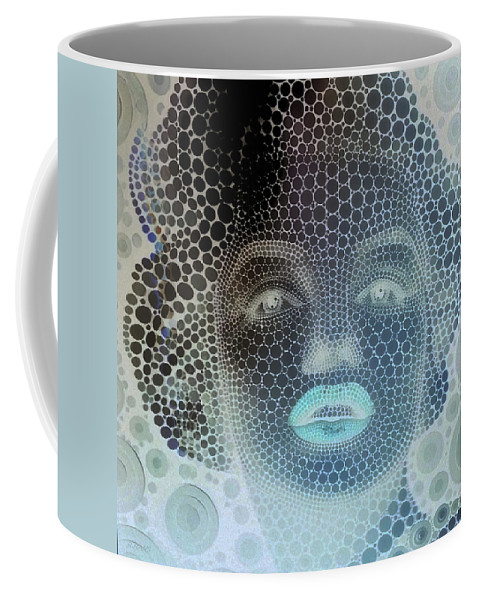 Marilyn Monroe Coffee Mug featuring the photograph M 2 Negative by Rob Hans