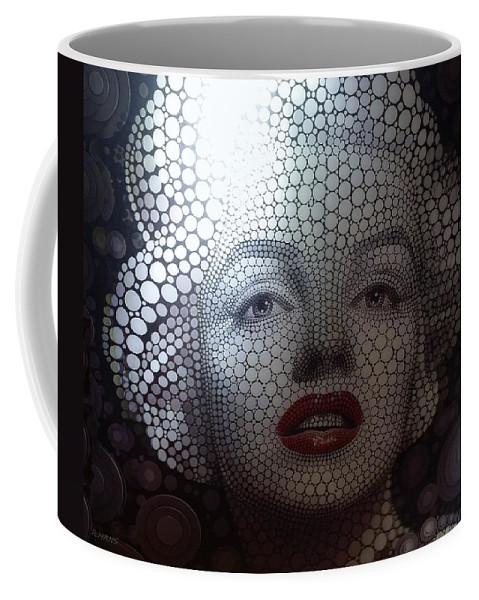 Marilyn Monroe Coffee Mug featuring the photograph M by Rob Hans