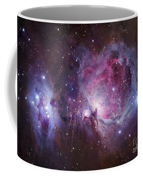 Astronomy Coffee Mug featuring the photograph M42, The Orion Nebula Top, And Ngc by Robert Gendler