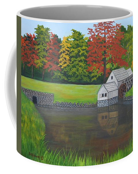 Landscape Coffee Mug featuring the painting Mabry Grist Mill by Ruth Housley