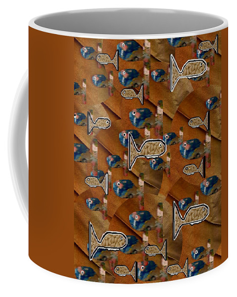 Acryl Coffee Mug featuring the mixed media Macaroni For Dinner by Pepita Selles
