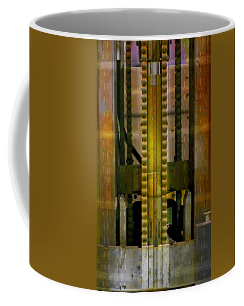 Texture Coffee Mug featuring the photograph Machina by Skip Hunt