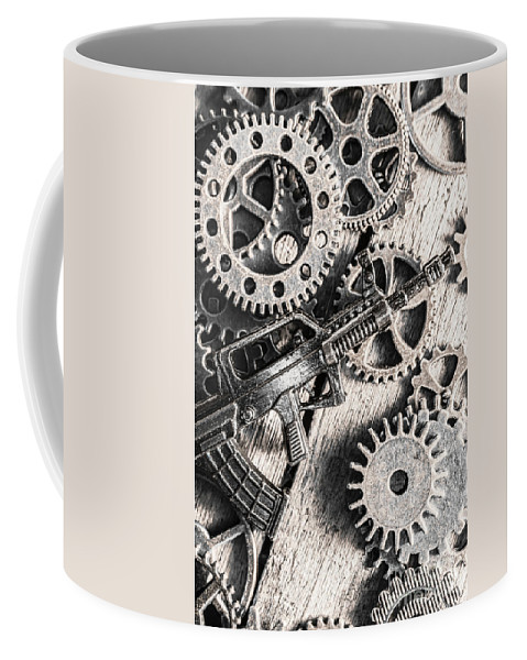 War Coffee Mug featuring the photograph Machines Of Military Precision by Jorgo Photography - Wall Art Gallery