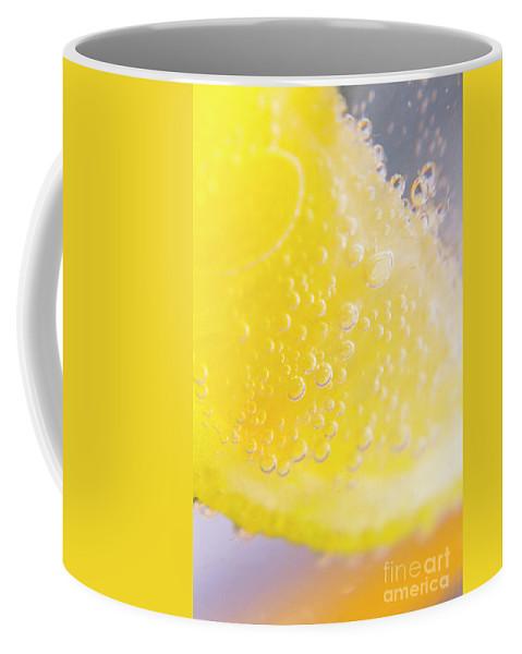 Closeup Coffee Mug featuring the photograph Macro Lemonade Bubbles by Jorgo Photography - Wall Art Gallery