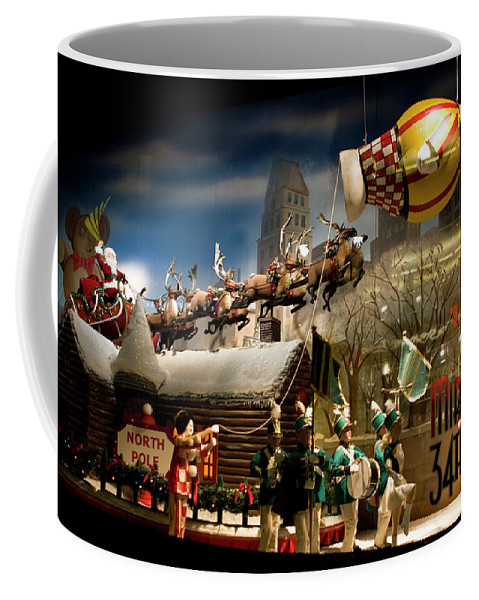 New York City Coffee Mug featuring the photograph Macy's Miracle On 34th Street Christmas Window by Lorraine Devon Wilke