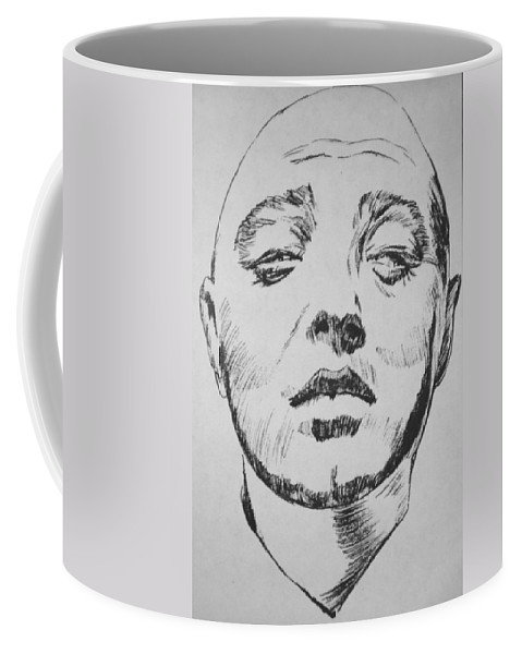 Peter Lorre Coffee Mug featuring the painting Mad Love by Bryan Bustard