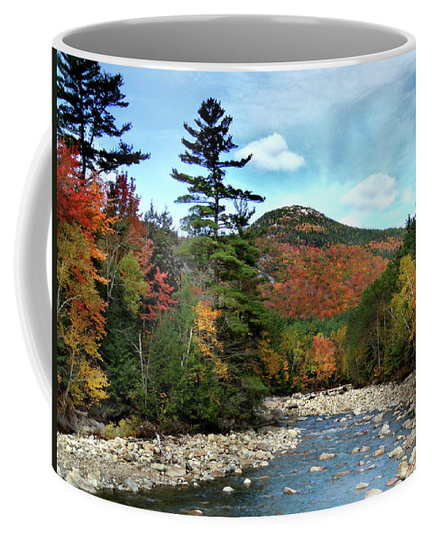 Autumn Coffee Mug featuring the photograph Mad River by Welch and Dickey by Nancy Griswold