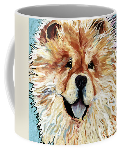 Chow Chow Coffee Mug featuring the pastel Madame Chu Cho by Pat Saunders-White
