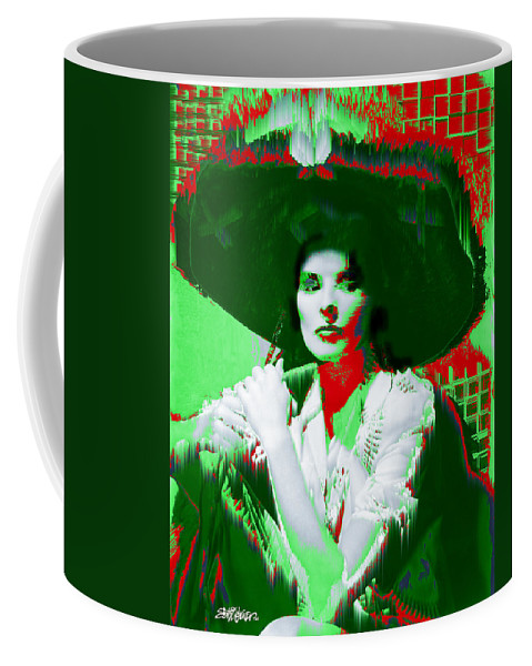 Katherine Hepburn Coffee Mug featuring the digital art Madame Kate And The Big Hat by Seth Weaver