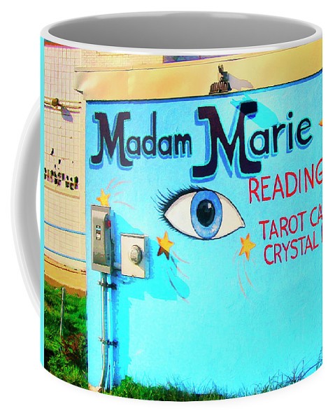 Madame Marie Coffee Mug featuring the mixed media Madame Marie by Dominic Piperata