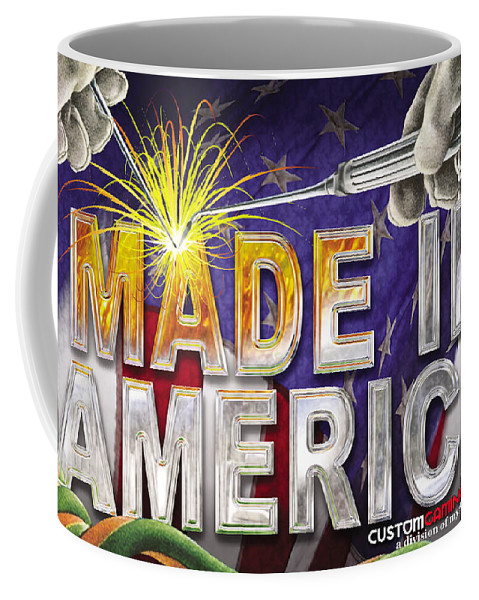 Made In America Coffee Mug featuring the digital art Made In America by Cindy D Chinn