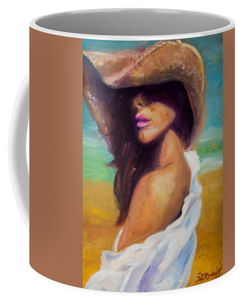 Girl Coffee Mug featuring the painting Made In The Shade by Jason Reinhardt