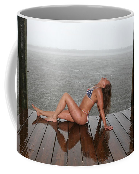 Beach Girl By Lucky Cole Everglades Photography Coffee Mug featuring the photograph Made In The Usa by Lucky Cole