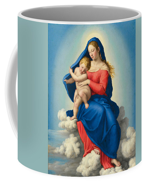 Sassoferrato Coffee Mug featuring the painting Madonna And Child In Glory by Sassoferrato