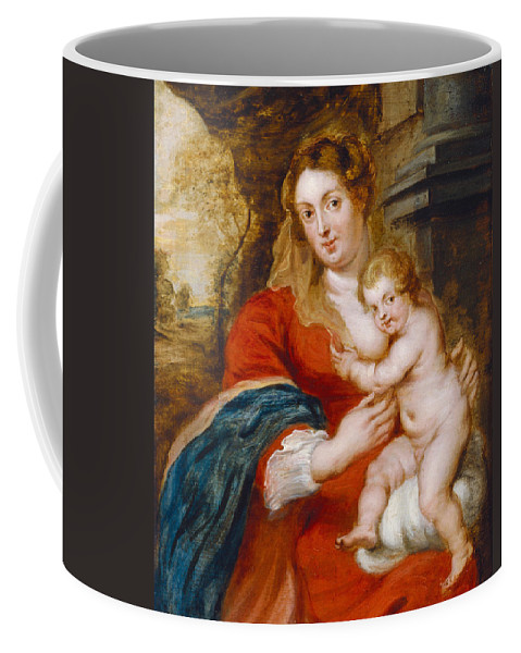 Peter Paul Rubens Coffee Mug featuring the painting Madonna And Child by Peter Paul Rubens