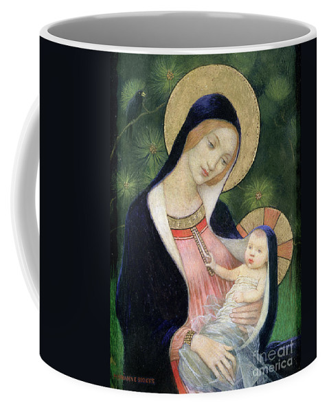 Madonna Of The Fir Tree Coffee Mug featuring the painting Madonna Of The Fir Tree by Marianne Stokes