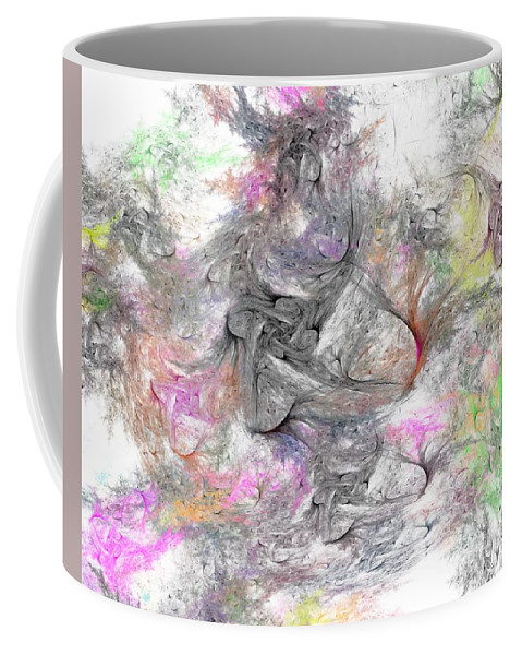 Digital Painting Coffee Mug featuring the digital art Madonnas by David Lane
