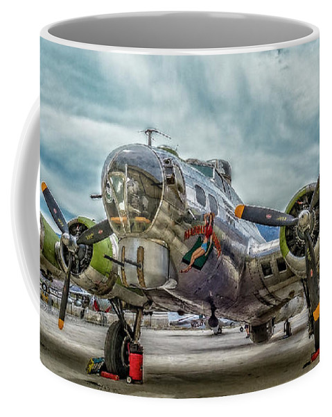 B17 Bomber Coffee Mug featuring the photograph Madras Maiden B-17 Bomber by Sandra Selle Rodriguez