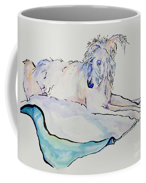 Animal Portrait Coffee Mug featuring the painting Maevis by Pat Saunders-White