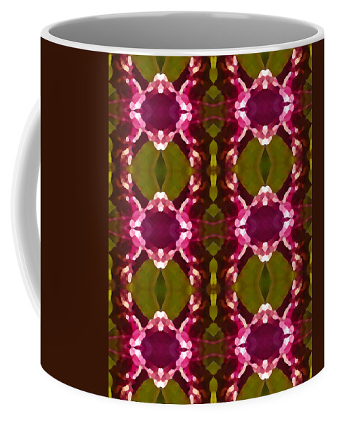 Abstract Coffee Mug featuring the painting Magenta Crystal Pattern by Amy Vangsgard