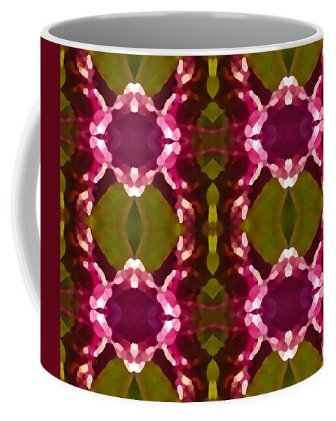 Abstract Painting Coffee Mug featuring the digital art Magenta Crystals Pattern 2 by Amy Vangsgard