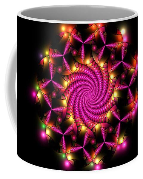 Elena Riim Coffee Mug featuring the digital art Magenta Mosaica by Elena Riim