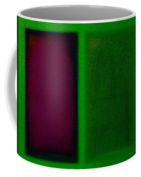 Rothko Coffee Mug featuring the painting Magenta On Green by Charles Stuart