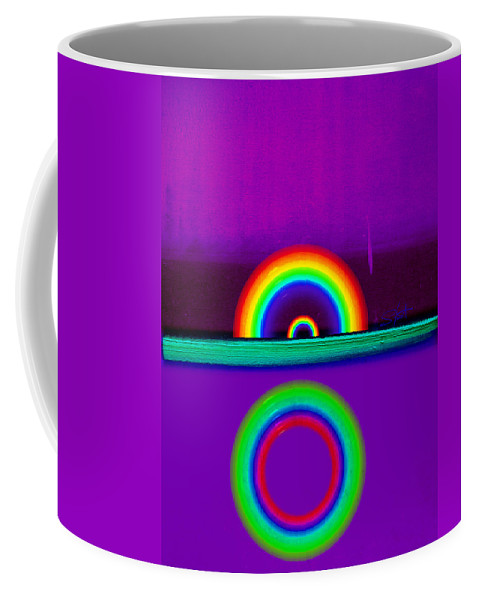 Rainbow Coffee Mug featuring the painting Magenta Sunset by Charles Stuart