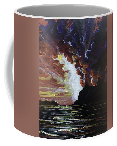 Ocean Coffee Mug featuring the painting Magestic by Joel Tesch
