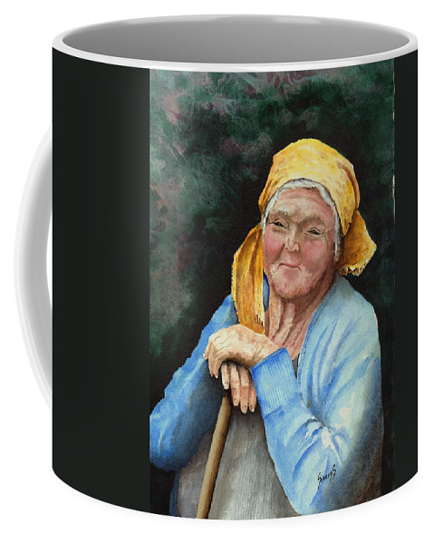 Portrait Coffee Mug featuring the painting Maggie by Sam Sidders