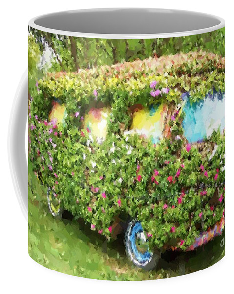 Volkswagen Coffee Mug featuring the photograph Magic Bus by Debbi Granruth