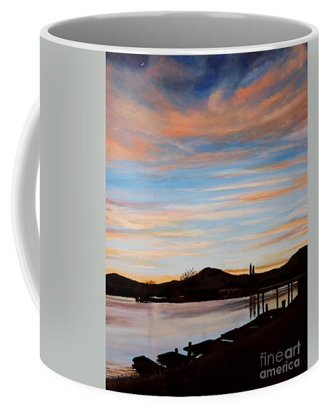 Landscape Coffee Mug featuring the painting Magic by Elizabeth Robinette Tyndall