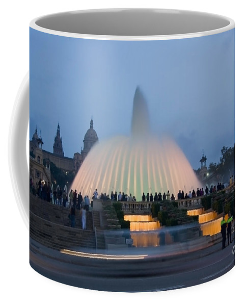 Barcelona Coffee Mug featuring the photograph Magic Fountain In Barcelona by Sven Brogren